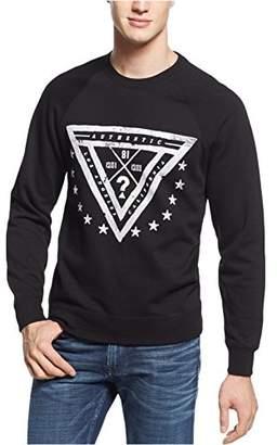 GUESS Men's Johnny Raglan Trifecta Crew Shirt