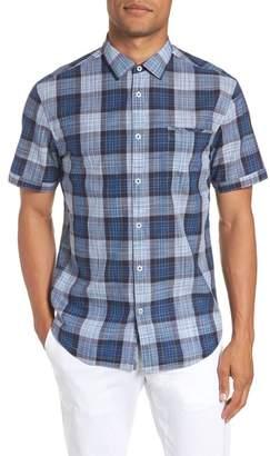 Good Man Brand Pacific Space Plaid Slim Fit Sport Shirt