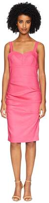 Nicole Miller Bra Top Tuck Dress Women's Dress