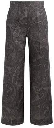 Max Mara Paisley Wide Leg Trousers