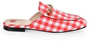 Gucci Princetown Check Fabric Slipper