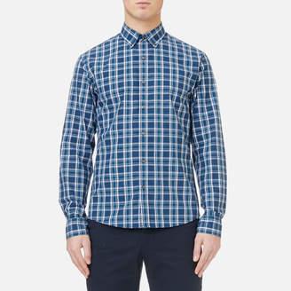 Michael Kors Men's Slim Fit Yarn Dyed Madras Check Shirt