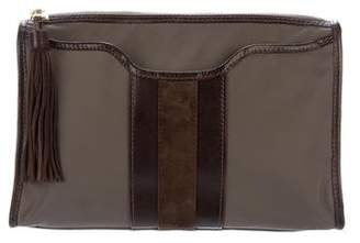 MZ Wallace Leather-Trimmed Nylon Pouch