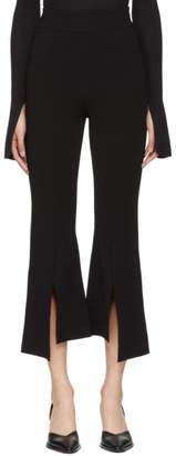 Stella McCartney Black Flared Front Slit Trousers