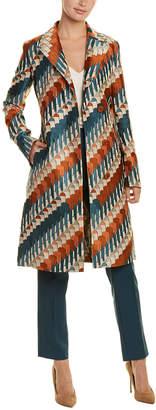 Akris Silk-Trim Coat