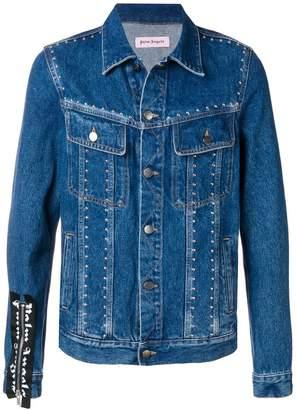 Palm Angels stud-embellished denim jacket