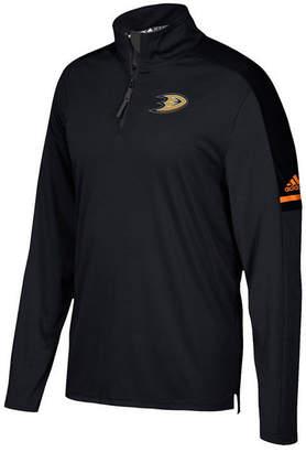 adidas Men's Anaheim Ducks Authentic Pro Quarter-Zip Pullover