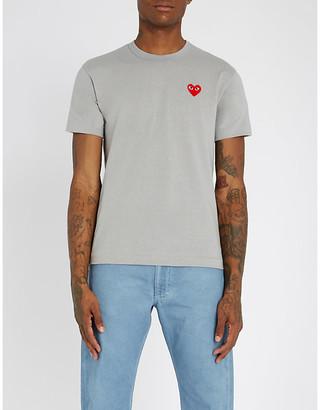 Comme des Garcons Heart-appliqué cotton-jersey T-shirt