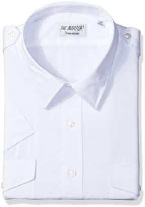 Van Heusen Men's Pilot Dress Shirt Short Sleeve