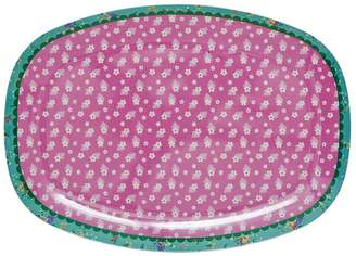Frolic and Cheer Pink Vintage Flower Melamine Plate