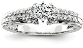 Kevin Jewelers Sterling Silvadium Diamond Semi Mount Engagement Ring