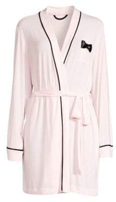 Kate Spade Bow-Detail Short Robe