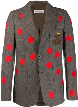 Walter Van Beirendonck Pre-Owned 2004/05's Cloudy Stars checked blazer