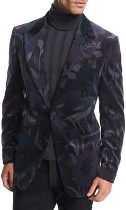 Tom Ford Shelton Base Floral Velvet Dinner Jacket