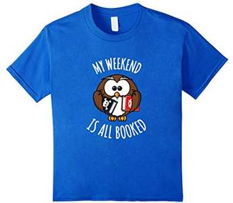 Funny My Weekend Is All Booked owl T-shirt