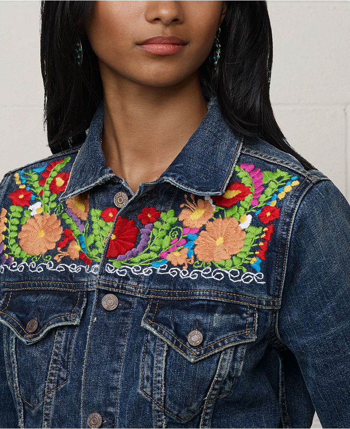 Denim & Supply Ralph Lauren Jacket, Embroidered Denim