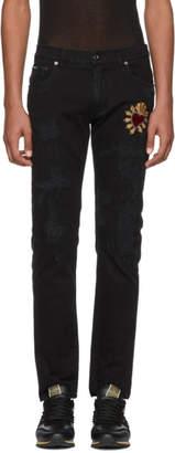 Dolce & Gabbana Black Skinny Distressed Jeans
