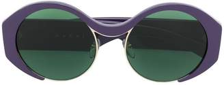 Marni Eyewear green tinted sunglasses