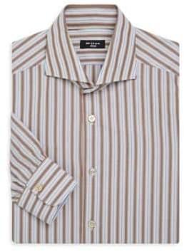 Kiton Multi Stripe Cotton Shirt