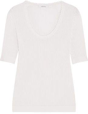 Carven Ribbed Cotton And Silk-Blend Sweater