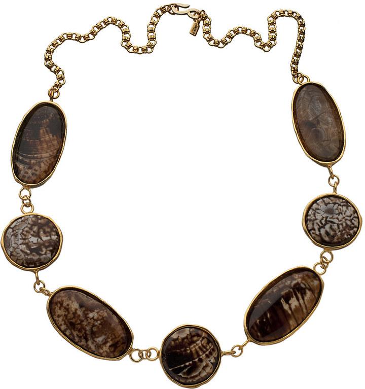 Kenneth Jay Lane Printed Stone Enamel Necklace