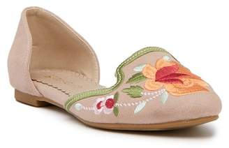 Restricted Gypsy Embroidered d'Orsay Flat