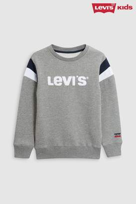 Next Boys Levi's Kids Grey Flocked Sweater