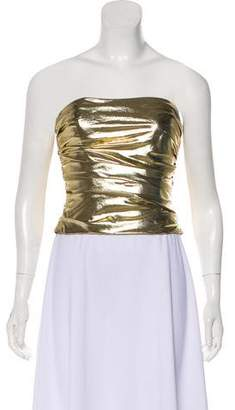 Reem Acra Metallic Strapless Top