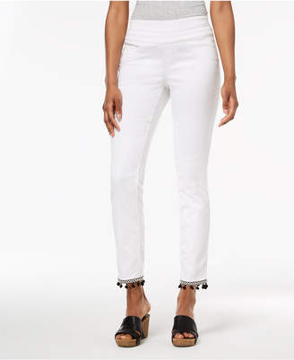 Style&Co. Style & Co Comfort-Waist Pom-Pom-Hem Pants, Created for Macy's