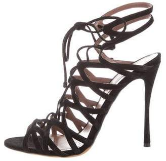 Tabitha Simmons Caged Lace-Up Sandals