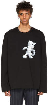 Juun.J Black Cat Mummy Long Sleeve T-Shirt