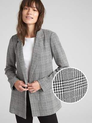 Gap Classic Plaid Girlfriend Blazer