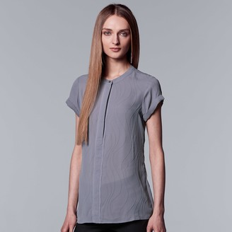 Vera Wang Women's Simply Vera Essential Textured Popover Top