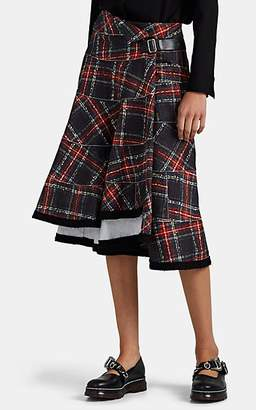 Comme des Garcons Women's Plaid Cotton Full Skirt - Black