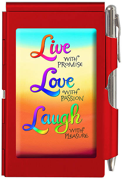 'Live, Love, Laugh' Flip Notepad