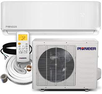 Pioneer WYS012-17 Air Conditioner Inverter+ Ductless Wall Mount Mini Split System Air Conditioner & Heat Pump Full Set