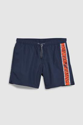 Mens Emporio Armani Navy Side Logo Swim Short