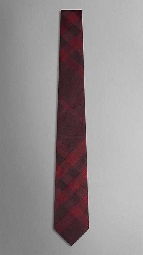 Check Silk Wool Tie