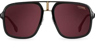 Carrera double-bridge aviator sunglasses