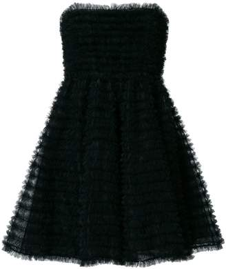 DSQUARED2 pintuck tulle mini dress