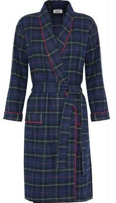 Sleepy Jones Checked Cotton-Flannel Robe