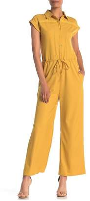ONE ONE SIX Short Sleeve Front Button Jumpsuit