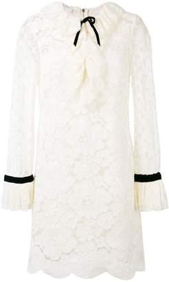 Philosophy di Lorenzo Serafini sheer mini lace dress