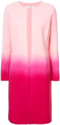 Oscar de la Renta ombré slim-fit collarless coat