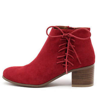 Django & Juliette New Keltic Red Womens Shoes Casual Boots Ankle