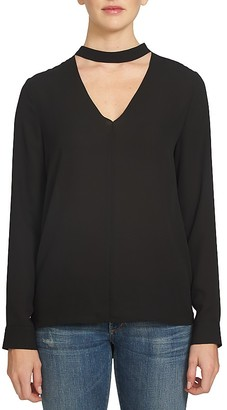 1.STATE Band Collar Cutout Blouse $79 thestylecure.com