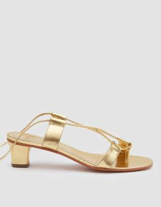 Martiniano Pavone Wrap Sandal in Gold