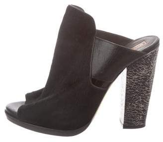 Reed Krakoff Ponyhair Slide Sandals