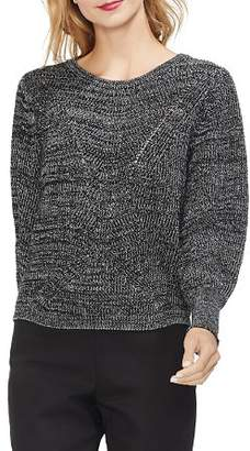Vince Camuto Marled Lace-Up Detail Sweater