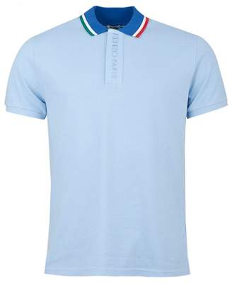 8d03ee93d Kenzo Contrast Collar Polo Shirt Colour: BLUE, Size: MEDIUM